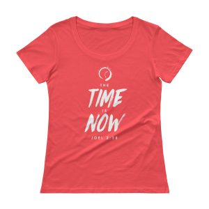 THE TIME IS NOW Ladies' Scoopneck T-Shirt